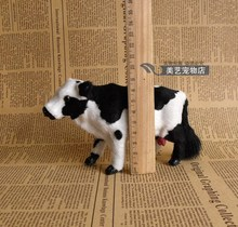 simulation cow toy 16x5x9cm model handicraft,plastic& fur dairy cow toy ,home decoration toy Xmas gift w5912