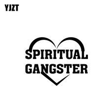 YJZT 17.8CM*13.8CM SPIRITUAL GANGSTER JESUS Vinyl Car Motorcycle tickers Decal Black/Silver C13-000292