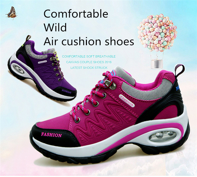 17 High quality Sneakers women shoes Running shoes woman leather Sport Shoes Air damping Outdoor arena Athletic zapatos mujer 4