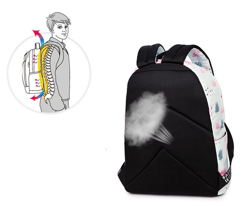 WINNER Fashion Backpack Flamingos Cute School Bags For Adolescent Girls Travel Rucksacks Laptop Mochilas Mujer 2018 (11)
