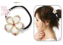 Free Shipping fashion hair accessories for women Cut crystal Phnom penh rhinestone faceted crystal flower hair bands A275