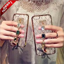 diamante jewel girls lovely case for iphone 5s 100% luxury rhinestone cases for iphone 7