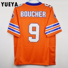 "YUEYA ""The Waterboy"" Movie Jerseys #9 Bobby Boucher American Football Jersey Mens Cheap Orange S-3XL"