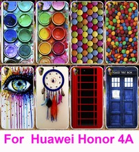 Soft TPU & Hard PC Case For Huawei Y6 Honor 4A Housing Dream Catcher Telephone Booth Covers For Huawei Honor 4A Shell Phone Bags