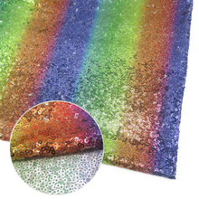 David accessories 50*125cm rainbow sequins glitter fabric For Clothing Making Party Events Table Covers Decor,55954