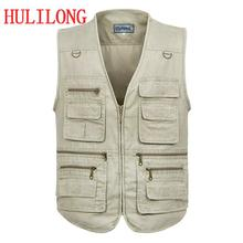 Men's Travel Vest Photography Reporter vest Concealed Carry Vest  Vest Military Coat