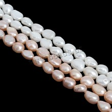 2017 New Fashion 1 Strand Real Natural Pearl Loose Beads 6-7mm Fine Jewelry DIY Making Finding Pearl Beads for Bracelet Necklace