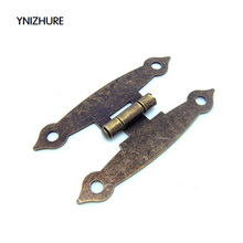 50pcs 65 * 34MM antique wooden box hinge metal hinge H-type 4-hole flat piece H-type hinge link