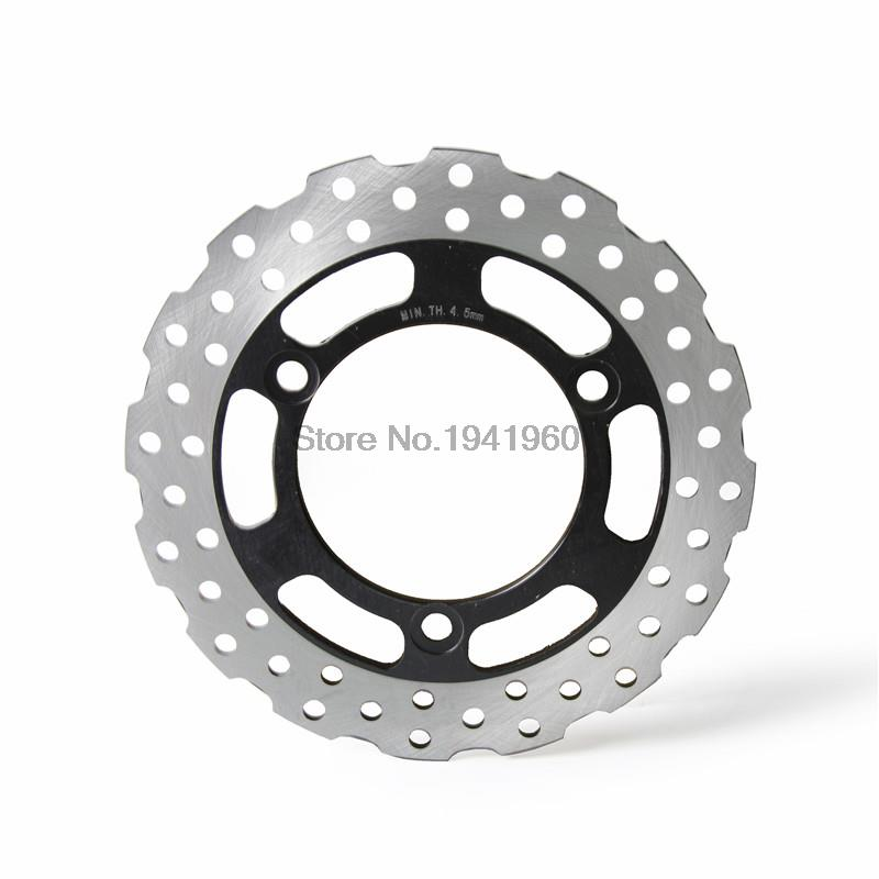 Drilled Rear Brake Disc Rotor for Kawasaki Ninja 250R ABS 2008 2009 2010 2011 2012 Motorbike Rear Brake Disc Rotor<br>