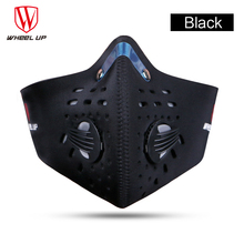 Riding Mask, Bicycle Sport, Windproof Dustproof Mask, Activated Carbon Half Face Sports Bicycle Bike Mask Dust Mask w/ Filter