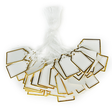 500PCs Rectangular Label Tie String Jewelry Display Merchandise Craft Pricing Label Tie String Price Tags