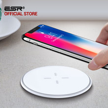 Buy QI Wireless Charger 10W, ESR Ultra Thin 5.5mm Desktop Mini Fast Wireless Charger iPhone X 8 Plus Samsung Note 8 S7 S8 for $15.99 in AliExpress store