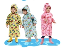 S-L Cartoon Kids Raincoat Evironment Waterproof Trench Raincoat Baby Girl and Boy Lovely Rain Suit 2015 Fashion Poncho