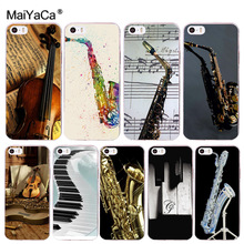 MaiYaCa Saxophone Violin Pinao Beautiful Phone Accessories Case for iPhone 8 7 6 6S Plus X 10 5 5S SE 5C 4 4S Coque Shell(China)