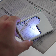 Newest Credit Card 3x 6x Magnifier Magnifying LED Light Jewelry Loupe For reading Good use Hot Selling