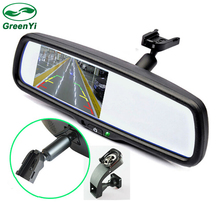 "GreenYi 4.3"" TFT LCD Car Windscreen Interior Mirrors Rearview Mirror Monitor with Original Bracket For Kia Hyundai Ford VW(China)"
