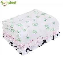[Mumsbest] Muslin Baby Swaddling 100%Cotton Newborn Infant Blanket Baby Swaddles Gauze Bath Towel Newborns Receiving Blankets(China)