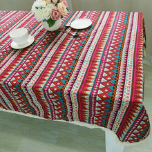 Tablecloth for Dinner Sign Style High Quality Lace Cloth Bohemia Style Decorative Army Blue Style Table Cloth