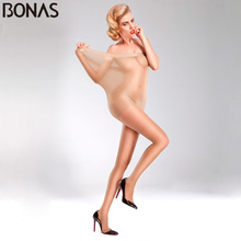 Buy BONAS Women Sexy Fashion Tights Summer Breathable Pantyhose Solid Color Nylon Slim Tights Thin Sun protection Female Stockings