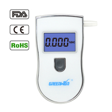 2017 New white Portable Analyzer Police Digital Breath Alcohol Tester Breathalyzer Mouthpieces free shipping