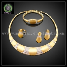Free shipping stylish fake gold jewelry set for women party  FHK607