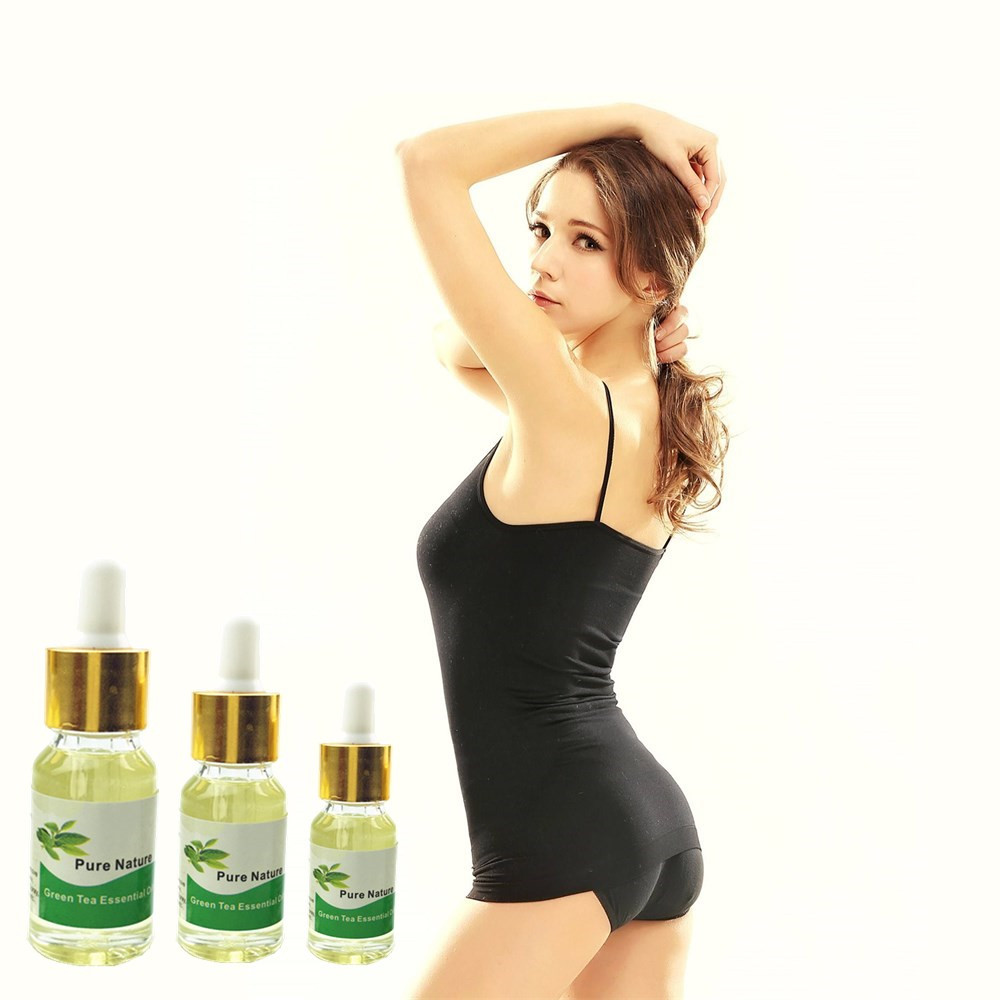 Natural Green Tea essence oil slimming body cream fat burning feeling fast slimming cream weight loss 8 days 5/10/15ml