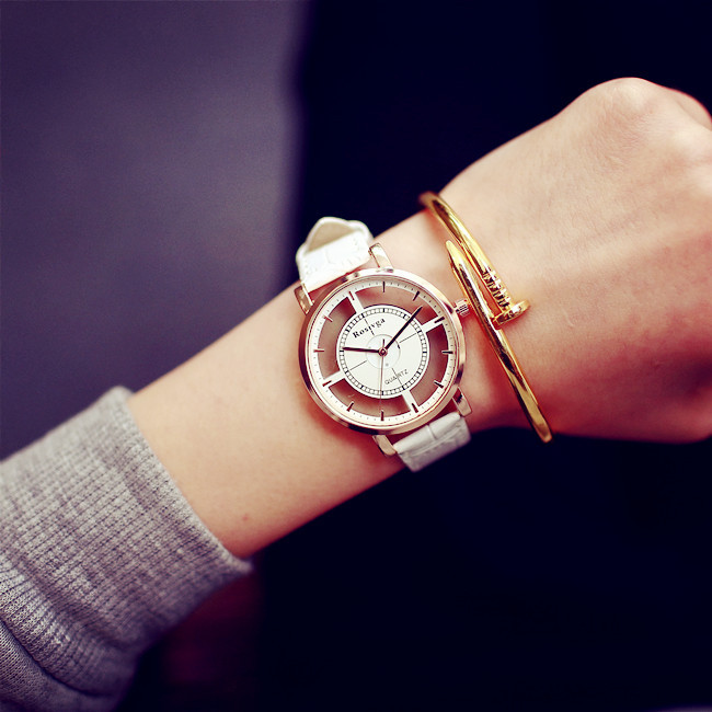 Relojes Mujer 2015 Skeleton Watch Ladies Quartz Wristwatch Women Watch Montre Femme Fashion Geneva Watch Women AB1142<br><br>Aliexpress