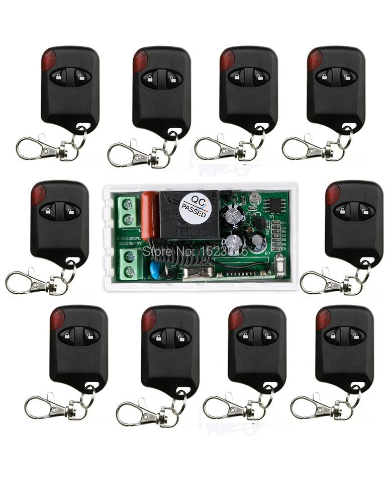 AC220V 10A 1CH 315MHz/433MHZ Wireless RF Remote Control Switch 10*cat eye Transmitter+1*Receiver for Appliances Gate Garage Door<br>
