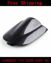 For Suzuki GSXR 600 GSX R 750 2006-2007 K6 motorbike seat cover Brand New Motorcycle Carbon fairing rear sear cowl cover(China)