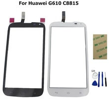 For HUAWEI G610 Touch Screen Digitizer Front Glass Sensor Black & White Color + 3M tape and tools + 1PCS/LOT With Tracking Code