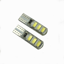 Buy 10PCS/Lot Waterproof T10 Led Bulb W5W 5630 Car Lamp Light CANBUS 6SMD Auto Silicone Turn Light Reverse License Plate Universal for $2.64 in AliExpress store