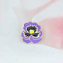 Cartoon Purple flower brooch Enamel Pin buckle Fashion Denim jacket Coat Bag Brooch Pin Badge Jewelry Gift for Kid Girl Boy(China)