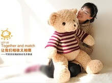 stuffed animal light brown teddy bear doll 80cm sweater bear plush toy gift w2729