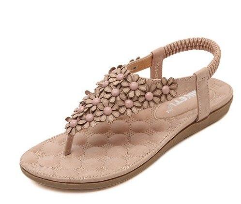 pink gray beach shoes flip flops summer shoes sandals flowers wholesale trade women sandals 2016<br><br>Aliexpress