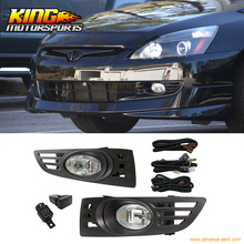 Fit For 2003-2005 Honda Accord 2Door Coupe JDM Clear Lens Fog Lights & Switch RH & LH USA Domestic Free Shipping Hot Selling