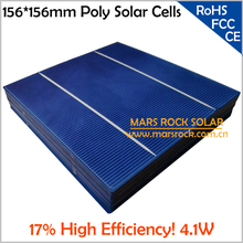 20pcs 4.1W 0.5V 17% High Efficiency Solar Cell Poly 6x6 for DIY Solar Panel, with 2 Busbar, Buy PV Solar Cell Get PV Ribbon Wire