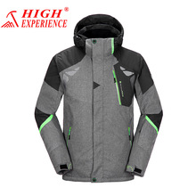2017 Winter High Experience Snow Ski Jacket Snowboard Jacket Men Brands Waterproof Hiking Camping Gray 3XL