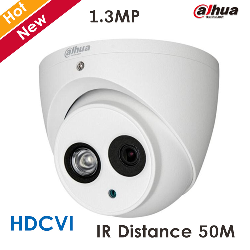 New Dahua HDCVI Camera HD720P 1.3MP DH-HAC-HDW2100E-A HD Network IR security cctv Dome Camera IR distance 50m HAC-HDW2100E-A<br>