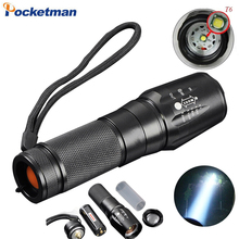 CREE T6 3800 Lumens LED Flashlight Zoomable toche lampe lanterna Torch linternas LED by 18650/AAA customize Drop shipping