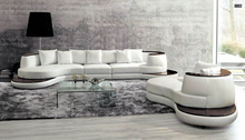 Living room sofa  with modern leather corner large sectional sofa
