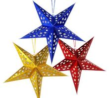 2017 New10 Pcs/Set30 CM Exquisite Glitter Christmas Stars Xmas Room Hanging Ornament Market School Themed Party Christmas Decor