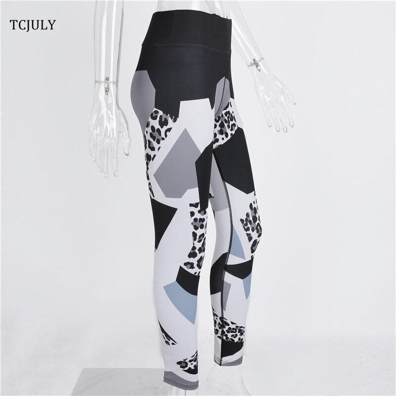 Leopard Patterns Leggings, Geometric Digital Printed Female Leggings, Elastic Push Up Leggings Pants 21