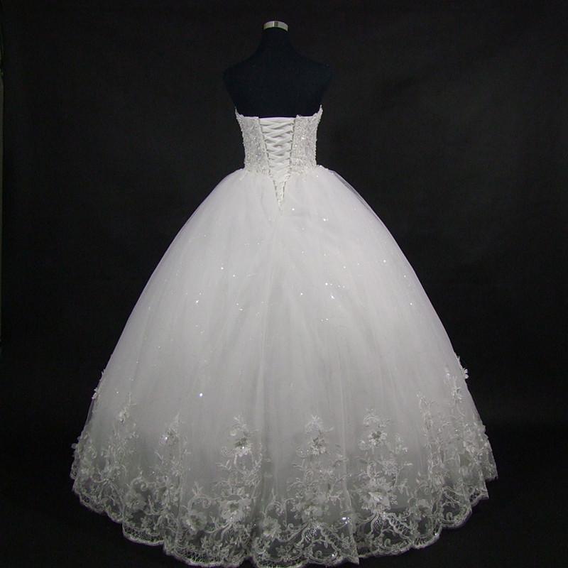 QQ Lover 2018 High Quality Elegant Luxury Lace Wedding Dress Vintage Bandage Plus Size Ball Gowns Vestido De Noiva 2