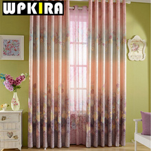 American Vintage Floral Curtains Frau Line Curtains for Living Room Bedroom Elegant Window Curtain Drapes Fabric Custom Made 30