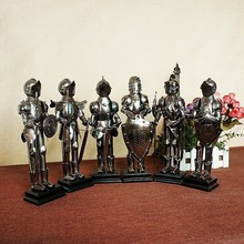 28cm Christmas Ornaments Metal Solier Miniatures 6 designs warrior Hand made metal crafts for Christmas home decoration