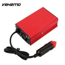 Vehemo 12V DC to AC 110V 50HZ Car Auto Power Pure Sine Inverter Converter Adapter 1000W Peak Power USB Car Charger(China)
