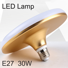 220-240V High Brightness LED UFO Flat Light  Energy Saving Lamp 30W LED Bulb E27 LED Light for Homelighting led bulb lamp light