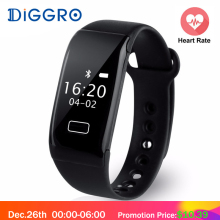 Diggro K18S Smart Band Bracelet Heart Rate Monitor Bluetooth 4.0 Sport Fitness Tracker Wristband Sleep Monitor for Android iOS(China)