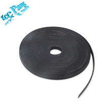 5 Meters GT2 Open Timing Belt Rubber PU Width 6mm 10mm Synchronous Opening Belts Part 3D Printers Parts 2GT-6mm Black(China)