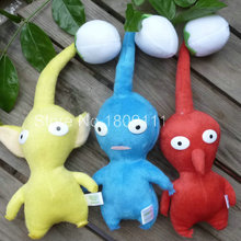 IN HAND NEW set of 3 GAME PLUSH PIKMIN SERIES PLUSH STUFFED ANIMAL BLUE/RED/YELLOW BUD~20CM 8inches doll Plush(China)